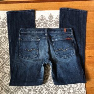 7FAM❤️Boot Cut Jeans New York Dark Wash crystal 27
